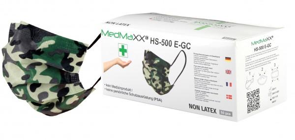 MedMaXX HS-500E-GC 3-lagige Community Gesichtsmasken grün camouflage 50 Stück