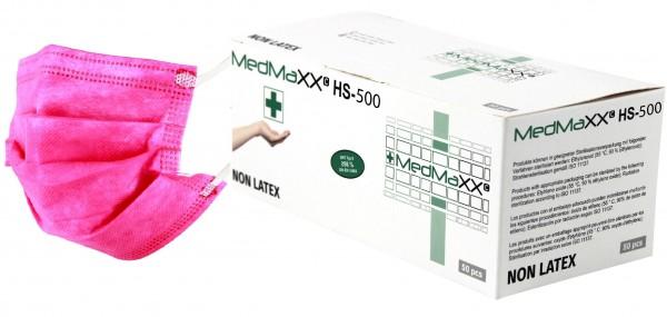 MedMaXX HS-500E-PI 3-lagige Community Gesichtsmasken pink 50 Stück