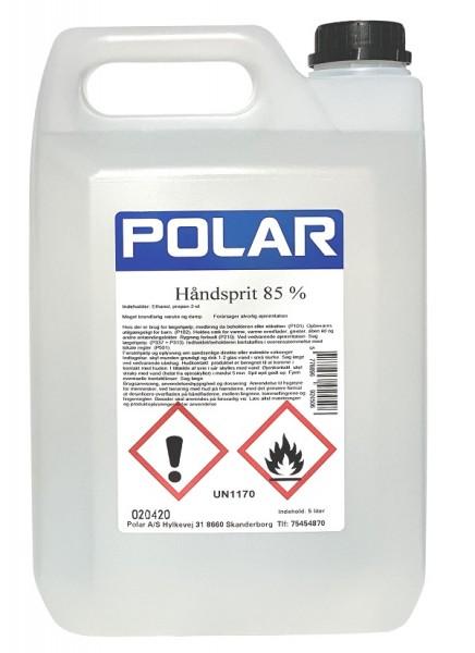 Polar Hygiene Biozid Handdesinfektion 85% Desinfektionsmittel 5.0 Liter