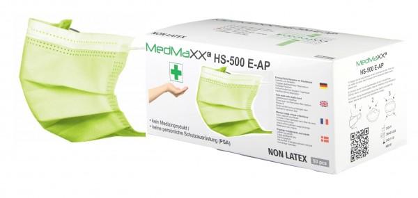 MedMaXX HS-500E-AG 3-lagige Community Gesichtsmasken apfelgrün 50 Stück