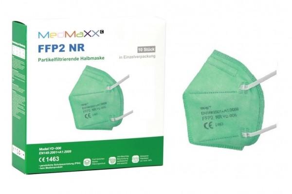 1x MedMaXX FFP2 NR Atemschutzmaske Größe XS, auch für Kinder geeignet, grün