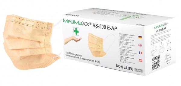 MedMaXX HS-500E-AP 3-lagige Community Gesichtsmasken apricot 50 Stück