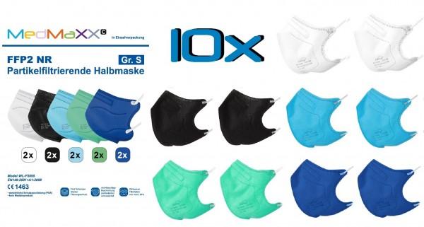 10x MedMaXX FFP2 NR Atemschutzmaske Größe S, auch für Kinder geeignet, BOY
