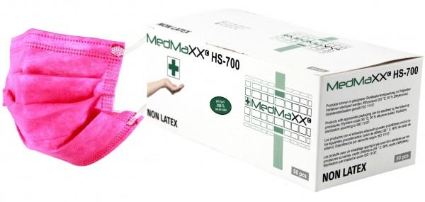 MedMaXX HS-700E-PI 3-lagige OP Maske Typ II EN 14683 pink 50 Stück