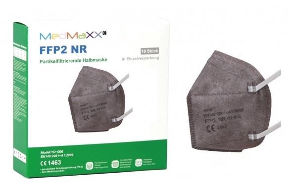 1x MedMaXX FFP2 NR Atemschutzmaske Größe XS, auch für Kinder geeignet, grau