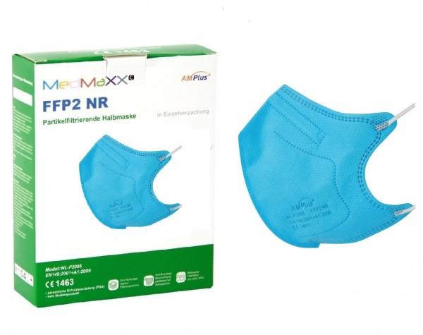 1x MedMaXX FFP2 NR Atemschutzmaske Größe S, auch für Kinder geeignet, blau