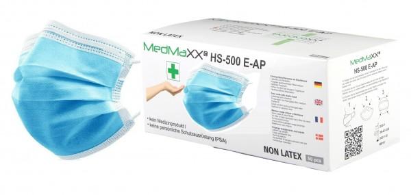 MedMaXX HS-500E-HB 3-lagige Community Gesichtsmasken hellblau 50 Stück