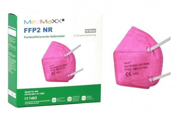 1x MedMaXX FFP2 NR Atemschutzmaske Größe XS, auch für Kinder geeignet, pink