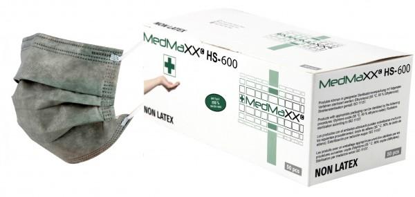 MedMaXX HS-600E-GR 3-lagige OP Maske Typ II EN 14683 grau 50 Stück