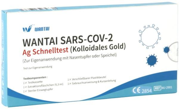 Wantai® SARS-COV2 Laien Antigen-Schnelltest Lutsch-Speichel oder Nasal ideal für die Schule