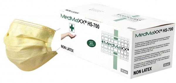 MedMaXX HS-700E-GE OP Maske Typ II EN 14683 gelb 50 Stück