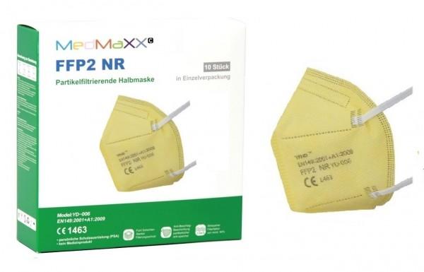 1x MedMaXX FFP2 NR Atemschutzmaske Größe XS, auch für Kinder geeignet, gelb