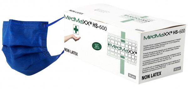 MedMaXX HS-600E-BL 3-lagige OP Maske Typ II EN 14683 blau 50 Stück