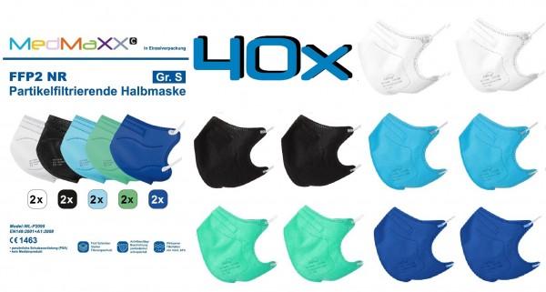 40x MedMaXX FFP2 NR Atemschutzmaske Größe S, auch für Kinder geeignet, BOY