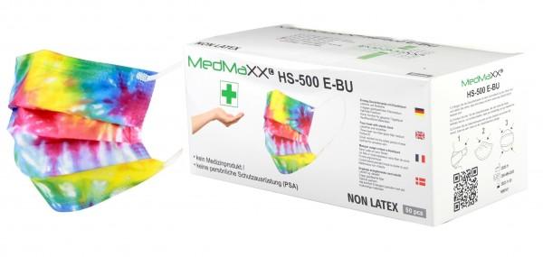 MedMaXX HS-500E-BU 3-lagige Community Gesichtsmasken bunt 50 Stück