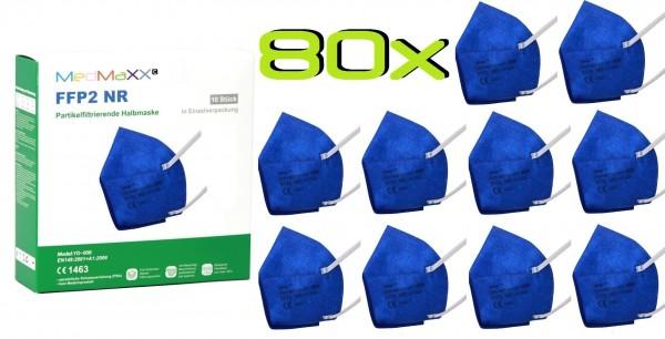 80x MedMaXX FFP2 NR Atemschutzmaske Größe XS, auch für Kinder geeignet, dunkelblau