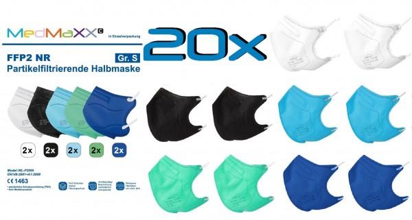 20x MedMaXX FFP2 NR Atemschutzmaske Größe S, auch für Kinder geeignet, BOY