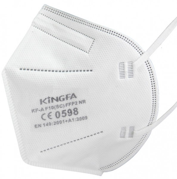 10x KingFA Profi FFP2 NR Atemschutzmaske CE 0598 EN 149:2001 Größe L